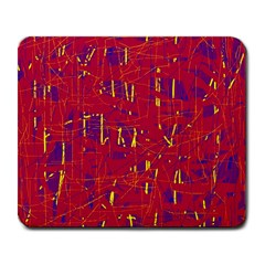 Red And Blue Pattern Large Mousepads by Valentinaart
