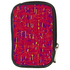 Red And Blue Pattern Compact Camera Cases by Valentinaart