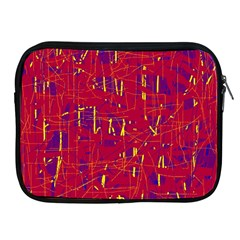 Red And Blue Pattern Apple Ipad 2/3/4 Zipper Cases by Valentinaart
