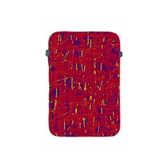 Red And Blue Pattern Apple Ipad Mini Protective Soft Cases by Valentinaart