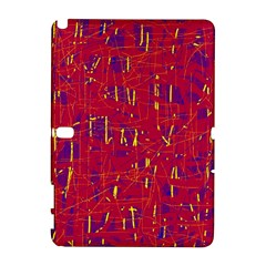 Red And Blue Pattern Samsung Galaxy Note 10 1 (p600) Hardshell Case by Valentinaart