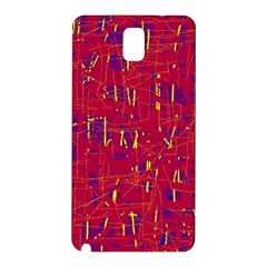Red And Blue Pattern Samsung Galaxy Note 3 N9005 Hardshell Back Case by Valentinaart