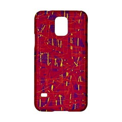 Red And Blue Pattern Samsung Galaxy S5 Hardshell Case  by Valentinaart