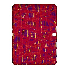 Red And Blue Pattern Samsung Galaxy Tab 4 (10 1 ) Hardshell Case  by Valentinaart