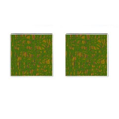 Green Pattern Cufflinks (square) by Valentinaart