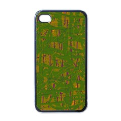 Green Pattern Apple Iphone 4 Case (black) by Valentinaart