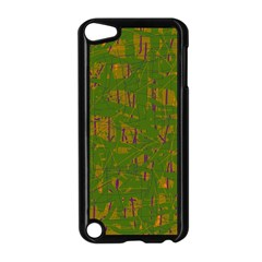 Green Pattern Apple Ipod Touch 5 Case (black) by Valentinaart