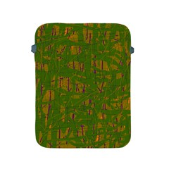 Green Pattern Apple Ipad 2/3/4 Protective Soft Cases by Valentinaart