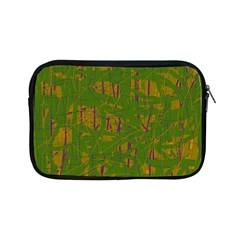 Green Pattern Apple Ipad Mini Zipper Cases by Valentinaart