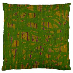 Green Pattern Standard Flano Cushion Case (one Side) by Valentinaart