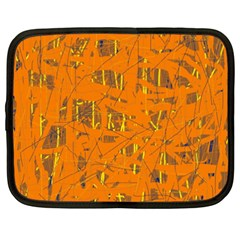 Orange Pattern Netbook Case (xxl)  by Valentinaart