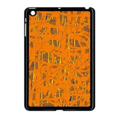 Orange Pattern Apple Ipad Mini Case (black) by Valentinaart