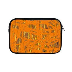 Orange Pattern Apple Ipad Mini Zipper Cases by Valentinaart