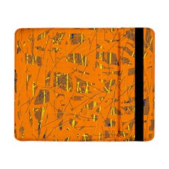 Orange Pattern Samsung Galaxy Tab Pro 8 4  Flip Case by Valentinaart