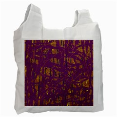 Purple Pattern Recycle Bag (one Side) by Valentinaart