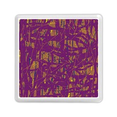 Purple Pattern Memory Card Reader (square)  by Valentinaart