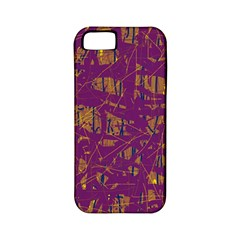 Purple Pattern Apple Iphone 5 Classic Hardshell Case (pc+silicone) by Valentinaart