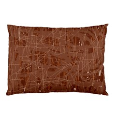 Brown Pattern Pillow Case by Valentinaart