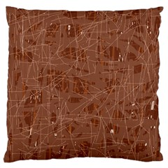 Brown Pattern Large Cushion Case (one Side) by Valentinaart