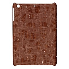 Brown Pattern Apple Ipad Mini Hardshell Case by Valentinaart