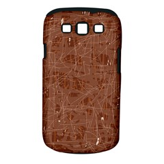 Brown Pattern Samsung Galaxy S Iii Classic Hardshell Case (pc+silicone) by Valentinaart