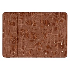 Brown Pattern Samsung Galaxy Tab 8 9  P7300 Flip Case by Valentinaart