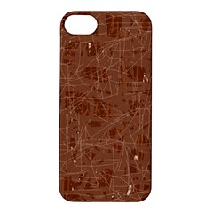 Brown Pattern Apple Iphone 5s/ Se Hardshell Case by Valentinaart
