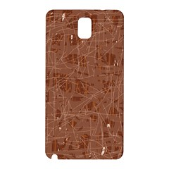 Brown Pattern Samsung Galaxy Note 3 N9005 Hardshell Back Case by Valentinaart