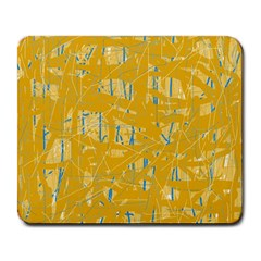 Yellow Pattern Large Mousepads by Valentinaart