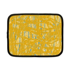 Yellow Pattern Netbook Case (small)  by Valentinaart