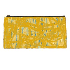 Yellow Pattern Pencil Cases by Valentinaart