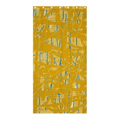Yellow Pattern Shower Curtain 36  X 72  (stall)  by Valentinaart