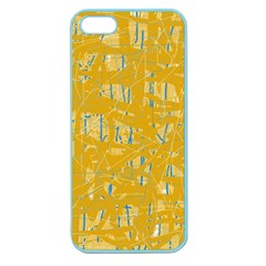 Yellow Pattern Apple Seamless Iphone 5 Case (color) by Valentinaart