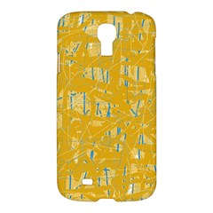 Yellow Pattern Samsung Galaxy S4 I9500/i9505 Hardshell Case by Valentinaart