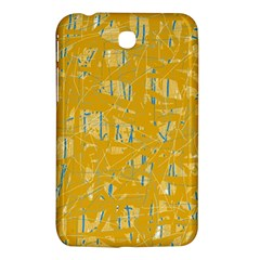Yellow Pattern Samsung Galaxy Tab 3 (7 ) P3200 Hardshell Case  by Valentinaart