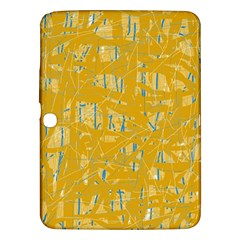Yellow Pattern Samsung Galaxy Tab 3 (10 1 ) P5200 Hardshell Case  by Valentinaart