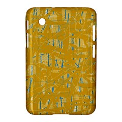 Yellow Pattern Samsung Galaxy Tab 2 (7 ) P3100 Hardshell Case  by Valentinaart