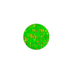 Neon Green Pattern 1  Mini Buttons by Valentinaart