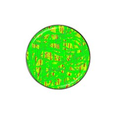 Neon Green Pattern Hat Clip Ball Marker (10 Pack)