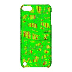Neon Green Pattern Apple Ipod Touch 5 Hardshell Case With Stand by Valentinaart