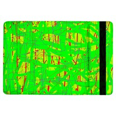 Neon Green Pattern Ipad Air Flip by Valentinaart