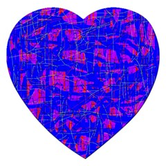 Blue Pattern Jigsaw Puzzle (heart) by Valentinaart