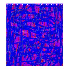 Blue Pattern Shower Curtain 66  X 72  (large)  by Valentinaart