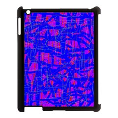 Blue Pattern Apple Ipad 3/4 Case (black) by Valentinaart