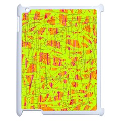 Yellow And Orange Pattern Apple Ipad 2 Case (white) by Valentinaart