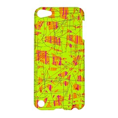 Yellow And Orange Pattern Apple Ipod Touch 5 Hardshell Case by Valentinaart