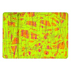 Yellow And Orange Pattern Samsung Galaxy Tab 10 1  P7500 Flip Case by Valentinaart