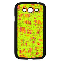 Yellow And Orange Pattern Samsung Galaxy Grand Duos I9082 Case (black) by Valentinaart