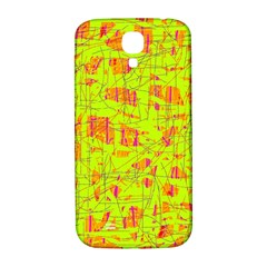 Yellow And Orange Pattern Samsung Galaxy S4 I9500/i9505  Hardshell Back Case by Valentinaart