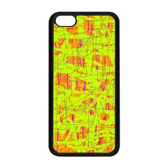 Yellow And Orange Pattern Apple Iphone 5c Seamless Case (black)